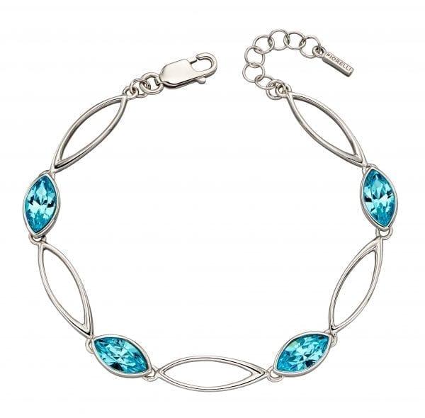 Twist vette bracelet with bohemian crystal
