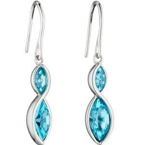 Twist vette earring with bohemian crystal
