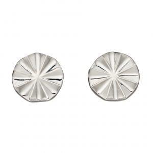 Diamond cut beveled earrings