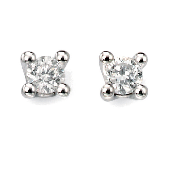 WG Solitaire diamond earrings