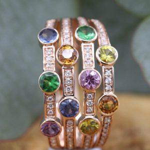 Coloured Stone Rings & Jewellery